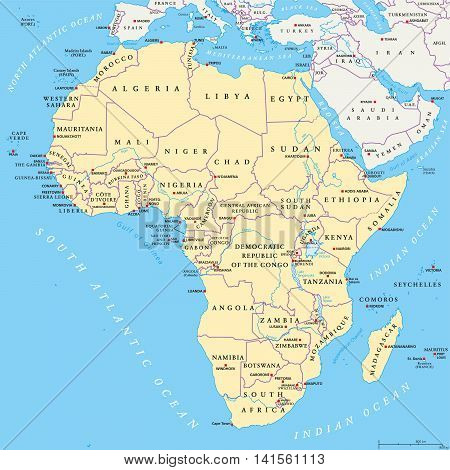 Africa Political Map Vector & Photo (Free Trial) | Bigstock on wind map of madagascar, agriculture map of madagascar, mineral map of madagascar, topographic map of madagascar, geography of madagascar, physical map of madagascar, natural resource map of madagascar,