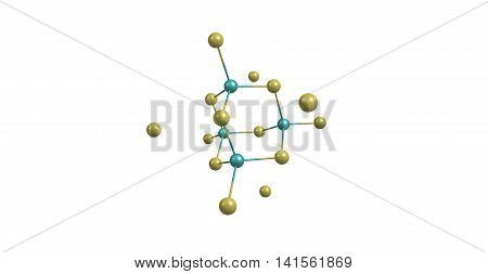Gallium arsenide - GaAs - is a compound of the elements gallium and arsenic. It is a bandgap semiconductor with a zinc blende crystal structure. 3d illustration