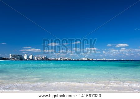 Sandy Beach White Sand And Turquoise Water