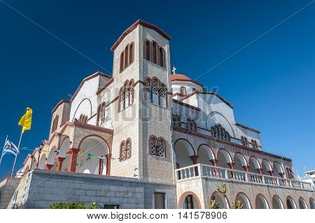 Agia Fotini is one of the largest Greek Orthodox churches in the town of Lerapetra on Crete.