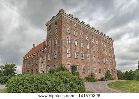 Svaneholm castle in Skane Sweden. The castle was founded in 1530.