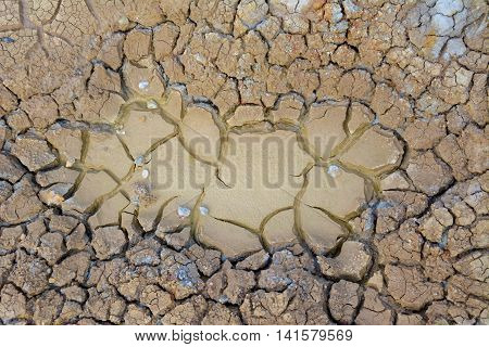 Clay of earth cracked and dry for background