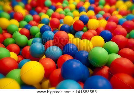 Playground with pool full of colorful balls