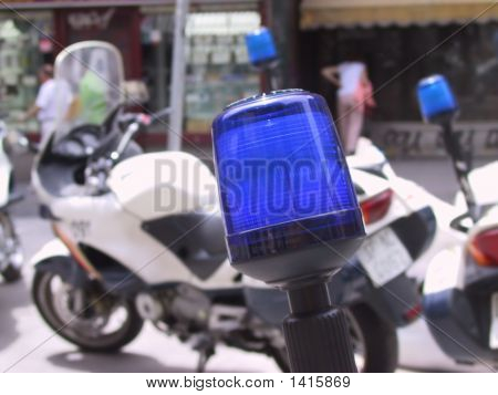 Police Lights Motorcycle