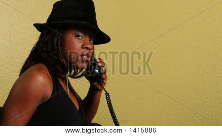 Mysterious Look Of African American Woman