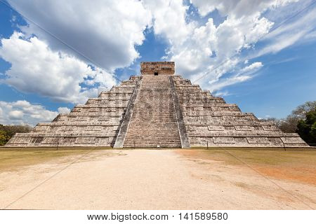 El Castillo (the Kukulkan Temple) Of Chichen Itza, Mexico
