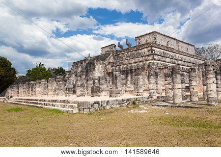 Temple Of The Warriors At Chichen Itza, Yucatan, Mexico