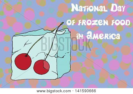 Ice Cube Frozen Cherries