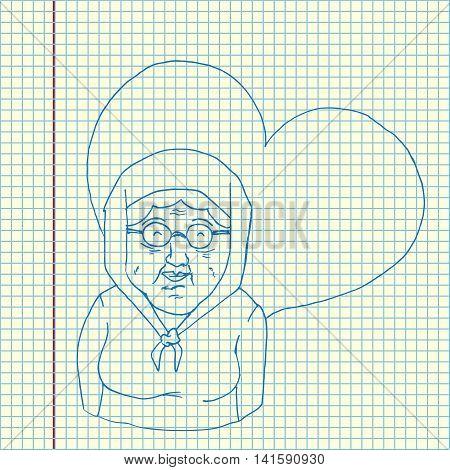 Grandmother Cartoon Illustration