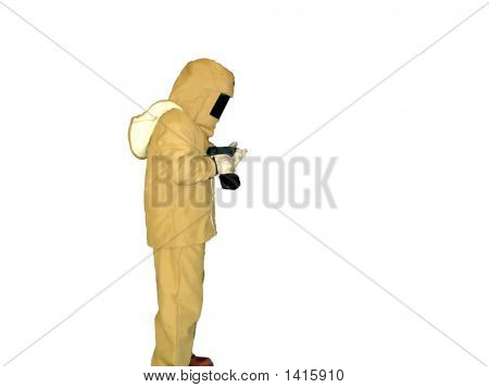 Electrician In Flash Suit