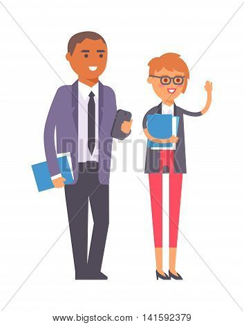 Group of business people. Business advisor vector and business people office meeting team. Office finance business advisor worker consultant occupation advice.