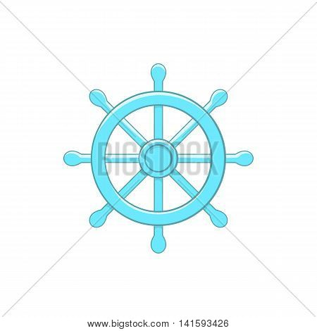 Wheel of Dharma icon in cartoon style on a white background