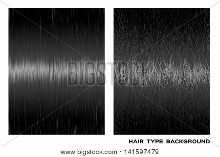 healthy, dry and damaged hair vector graphic