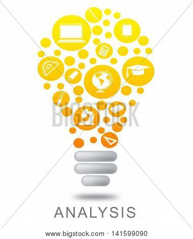 Analysis Lightbulb Means Data Analytics And Analyze