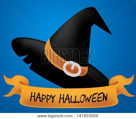 Happy Halloween Shows Trick Or Treat And Autumn