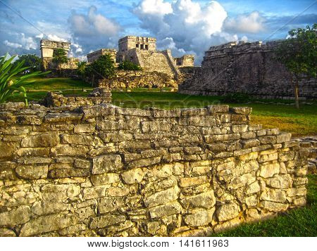 Tulum  is the site of a Pre-Columbian Maya walled city near Coba.