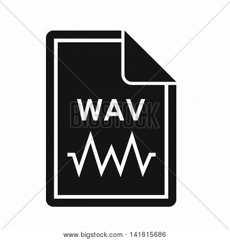 File WAV icon in simple style isolated on white background. Document type symbol
