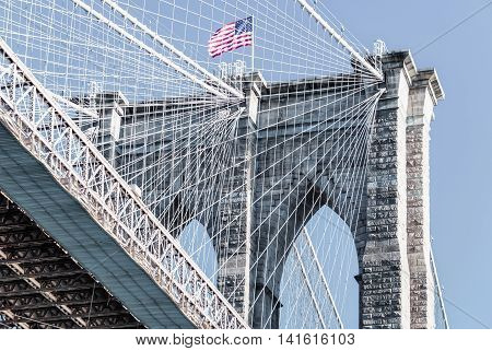 Brooklyn Bridge In New York City United States America
