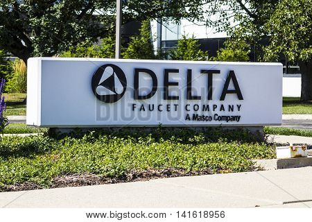 Indianapolis - Circa August 2016: Delta Faucet Company Corporate Headquarters. Delta Faucet is a wholly owned subsidiary of Masco Corporation I