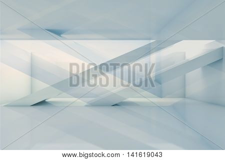 Abstract Interior Background, Empty 3 D Room
