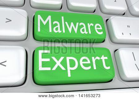 Malware Expert Concept