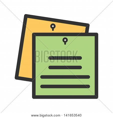 Notes, study, school icon vector image. Can also be used for schooling. Suitable for use on web apps, mobile apps and print media.