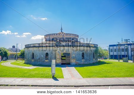 CURITIBA , BRAZIL - MAY 12, 2016: the paiol theater builded in 1874 by the brazilian military and in 1971 opened as a theater by the municipality of curitiba.