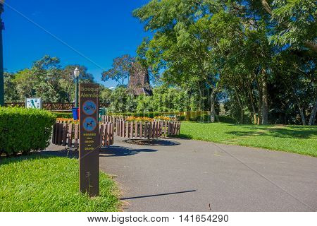 CURITIBA , BRAZIL - MAY 12, 2016: bosque alemao is a park in the city builded in honor of the german immigrants.