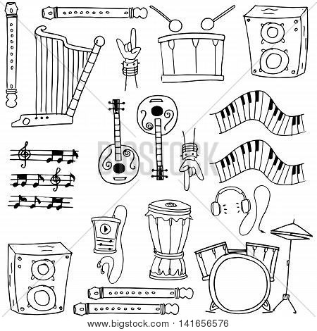 Doodle of music stock vector hand draw