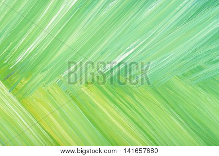 Green abstract hand-painted gouache brush stroke daub background texture. Art. Expression of its own thoughts. Outpouring. Backgrounds.