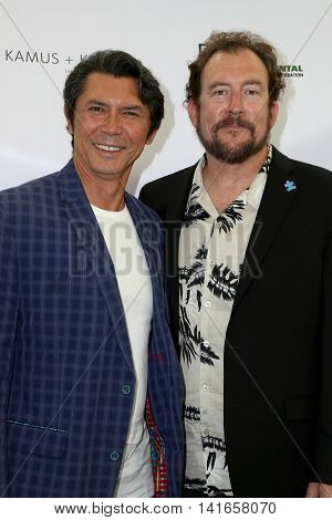 LOS ANGELES - AUG 6:  Lou Diamond Phillips, Matt Asner at the 4th Annual Ed Asner And Friends Poker Tournament For Autism Speaks at the South Park Center  on August 6, 2016 in Los Angeles, CA