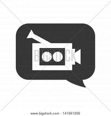 videocamera film movie cinema icon. Isolated and flat illustration. Vector graphic