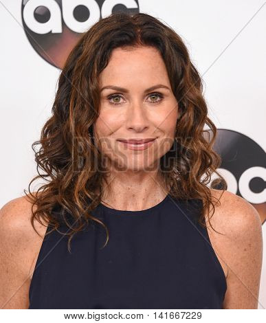LOS ANGELES - AUG 04:  Minnie Driver arrives to the ABC TCA Press Party 2016 on August 04, 2016 in Hollywood, CA