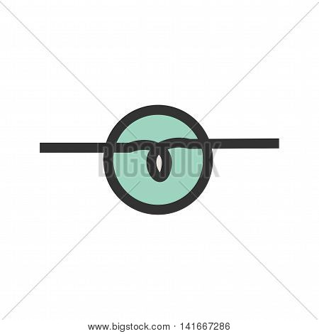 Electricity, lamp, bulbs icon vector image. Can also be used for electric circuits. Suitable for use on web apps, mobile apps and print media.