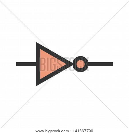Circuit, component, electricity icon vector image. Can also be used for electric circuits. Suitable for use on web apps, mobile apps and print media.