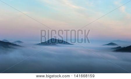 Morning Inversion Seen From Stranik, Zilina, Slovakia