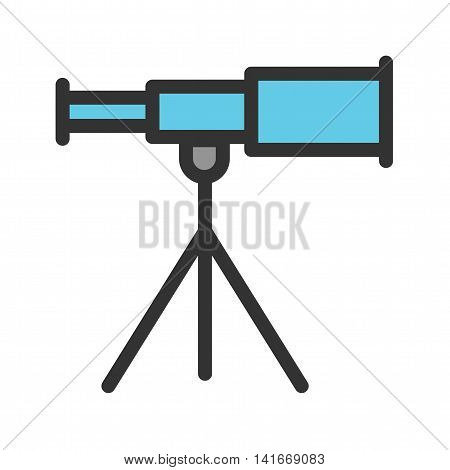 Ship, telescope, stand icon vector image. Can also be used for sea. Suitable for use on web apps, mobile apps and print media.