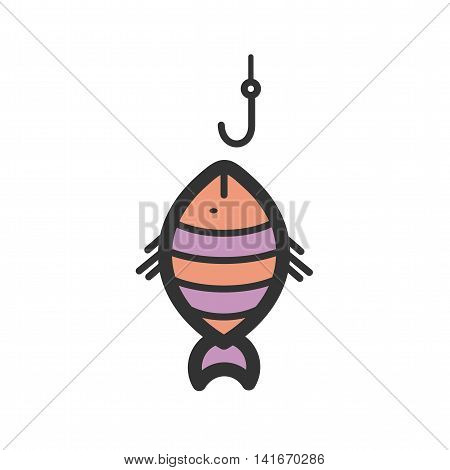 Fish, fishing, fisherman icon vector image. Can also be used for sea. Suitable for use on web apps, mobile apps and print media.