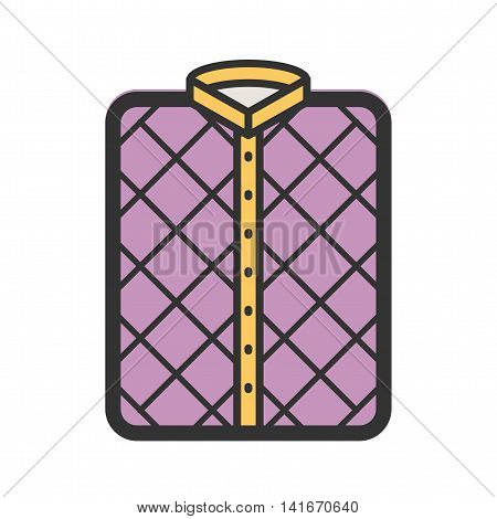 Pattern, shirt, check icon vector image. Can also be used for hipster. Suitable for web apps, mobile apps and print media.