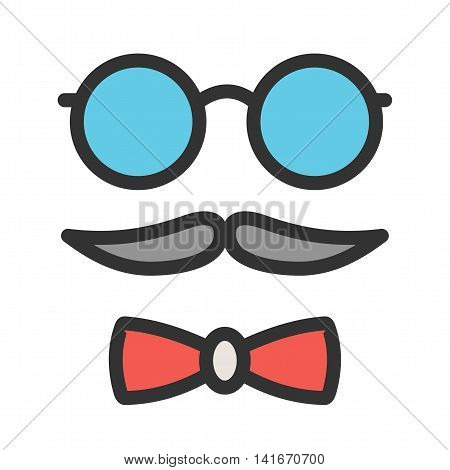 Hipster, style, set icon vector image. Can also be used for hipster. Suitable for use on web apps, mobile apps and print media.