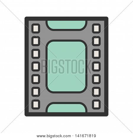 Film, reel, strip icon vector image. Can also be used for hipster. Suitable for use on web apps, mobile apps and print media.