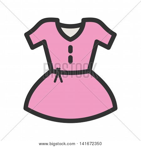 Dress, beautiful, woman icon vector image.Can also be used for hipster. Suitable for mobile apps, web apps and print media.