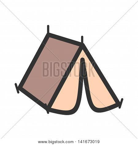 Camping, tent, summer icon vector image. Can also be used for hipster. Suitable for use on web apps, mobile apps and print media.