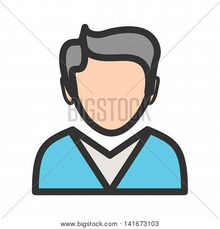 Man, business, portrait icon vector image.Can also be used for hipster. Suitable for use on web apps, mobile apps and print media.