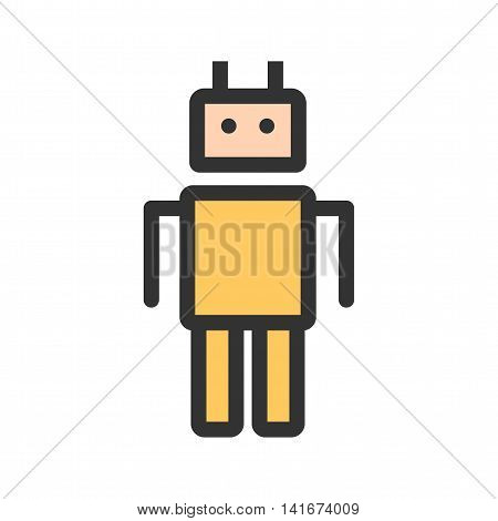 Robot, model, face icon vector image.Can also be used for astronomy. Suitable for use on web apps, mobile apps and print media.
