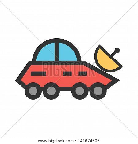 Vehicle, news, broadcast icon vector image.Can also be used for astronomy. Suitable for use on web apps, mobile apps and print media.