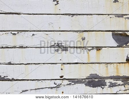 Old Weathered Painted Cracked Wood Texture Background.