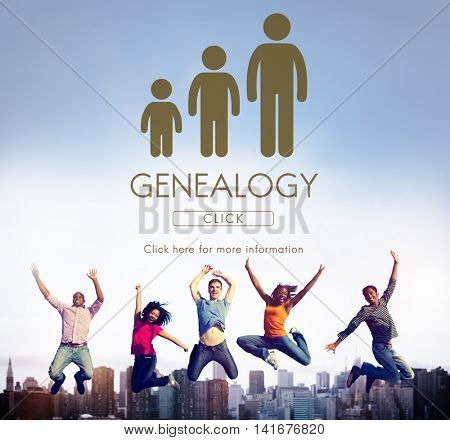 Genealogy Family Generations Relationship Concept