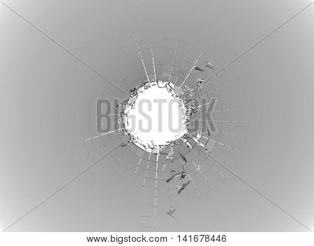 Pieces Of Broken Or Shattered White Glass