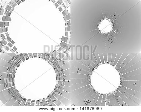 Collection Of Shattered Or Broken Glass